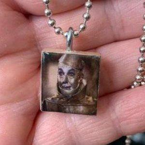 Tin Man Scrabble Tile Necklace